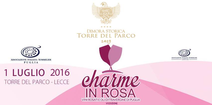 August 12, 2016 Caiaffa Wines @ Charme in Rosa event, Rosati di Puglia in Lecce Torre del Parco – 1 July 2016