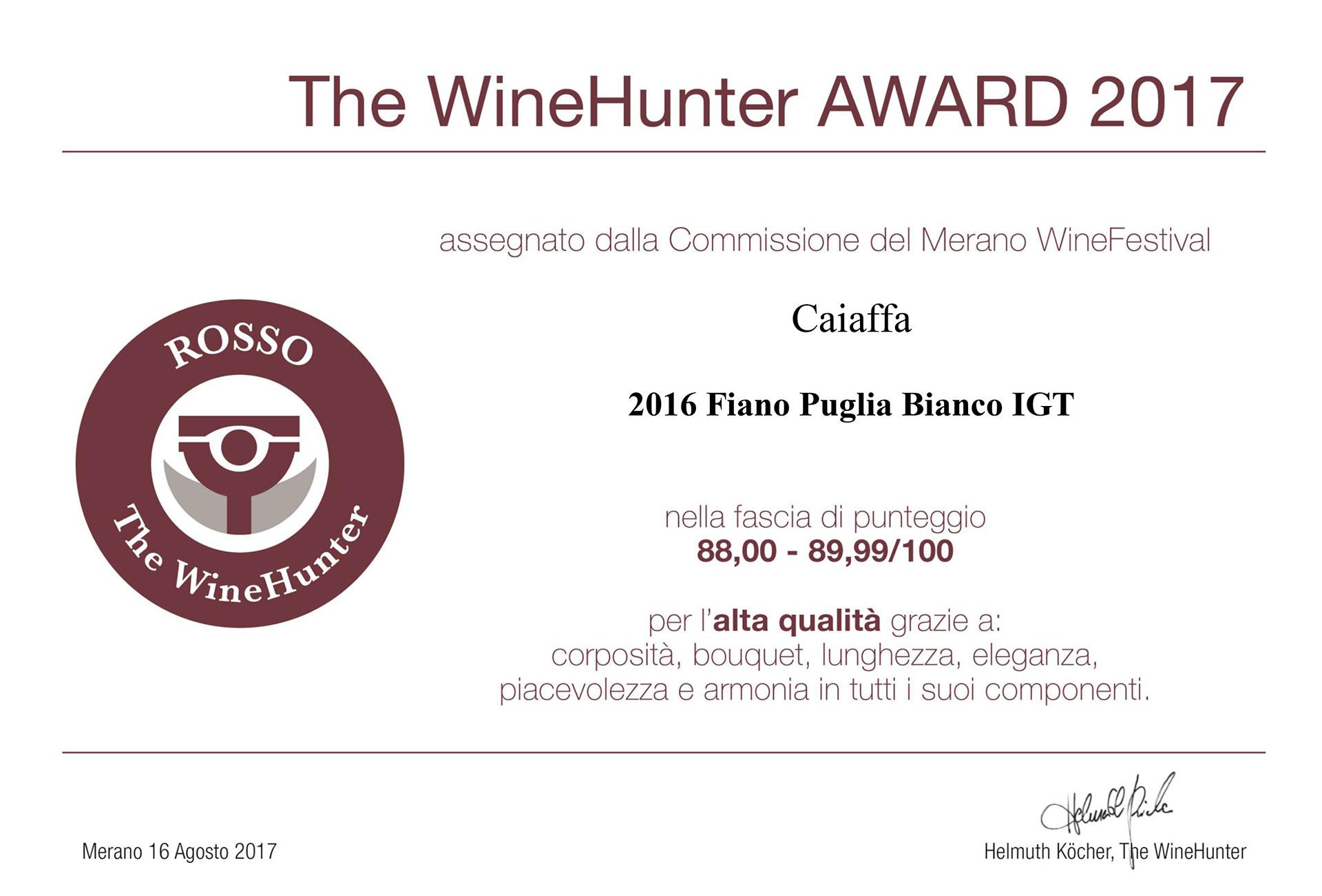 The WineHunter Award 2017