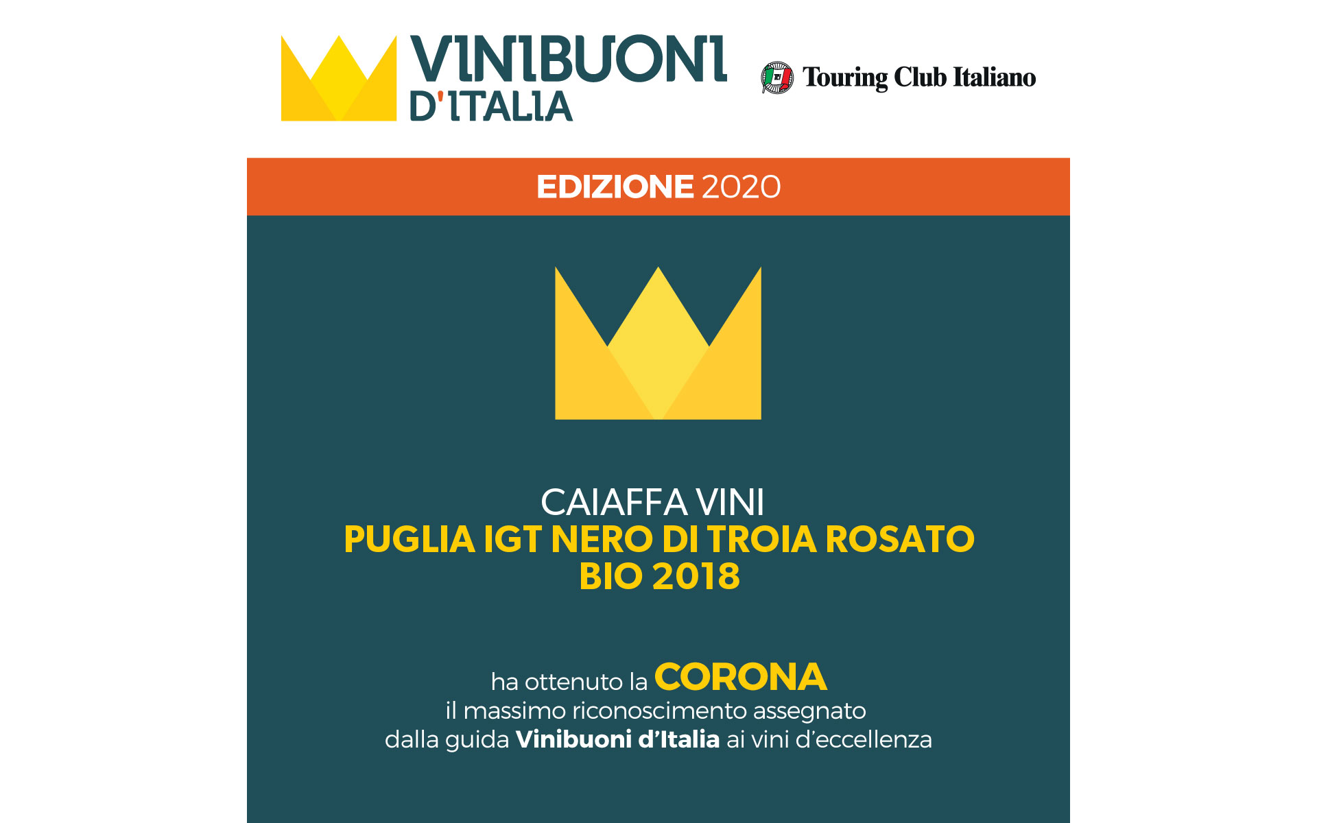 Vinibuoni d'Italia 2020 – Corona